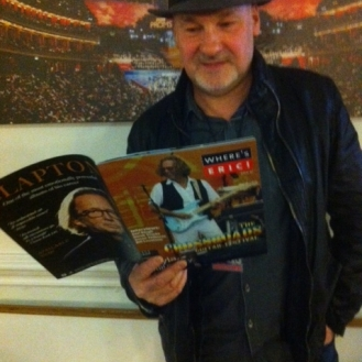 Where's Eric! interviews Paul Carrack at the Royal Albert Hall. Photo TE