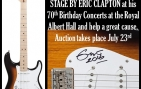 Eric Clapton 2014 Stage Played Autographed Stratocaster Charity Auction