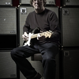 Eric Clapton with a 2006 'Blackie' re-creation Stratocaster / Jack English