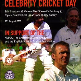 Eric Clapton's Celebrity Cricket Day Programme (Where's Eric! Archive)