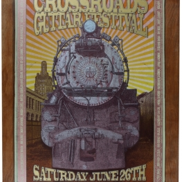 Eric Clapton - Crossroads Guitar Festival 2010 Limited Edition Print on Wood