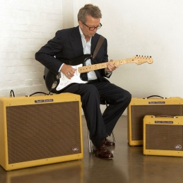 Clapton with the new EC Series Amps from Fender and Signature Model Stratocaster