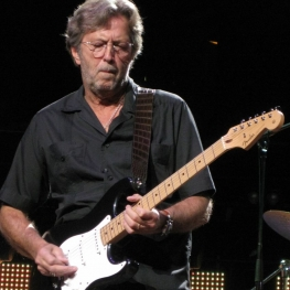Eric Clapton performing at London's Royal Albert Hall - May 2009