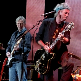 Eric Clapton & Keith Richards 4-13-13 (Photo: Linda Wnek)