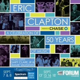 Eric Clapton Sept 2017 - 50 Years Of Music