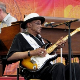 Hubert Sumlin in Chicago - 26 June 2010 (Photo: Steve Proctor)