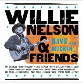 cd art track list willie nelson friends live kickin, clapton, charles, keith